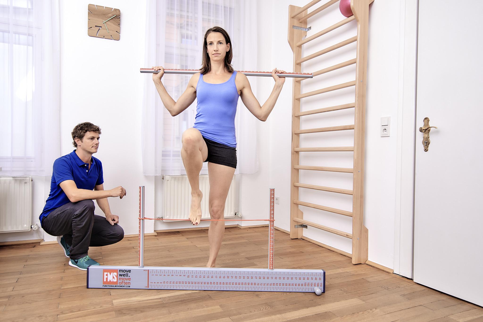 Durchführung Functional Movement Screen Physiotherapie Connert Innsbruck