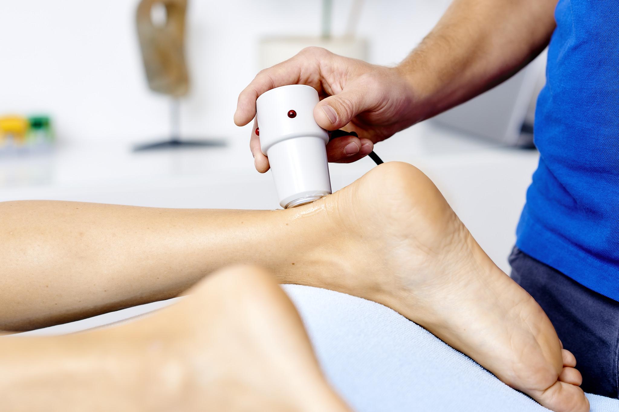Ultraschall Achillessehne Physiotherapie Connert Innsbruck